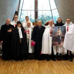 S. E. Monseñor Alfonso Badini Confalonieri Obispo de Susa en la Rogación en memoria del mártir San José Sanchez Del Río