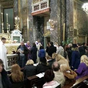 S.E. Mons. Angelo De Donatis Vicario de Roma, en la Basílica de Santa María en Via – 11 de marzo de 2018